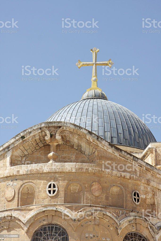 Church of the Holy Sepulchre - Jerusalem royalty-free stock photo
