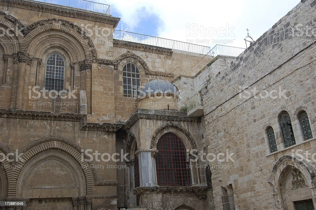 Church of the Holy Sepulchre- Jerusalem stock photo