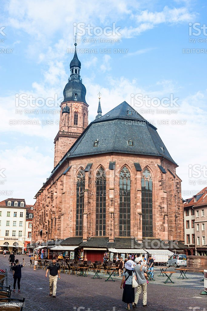 Church of the Holy Spirit in Heidelberg stock photo