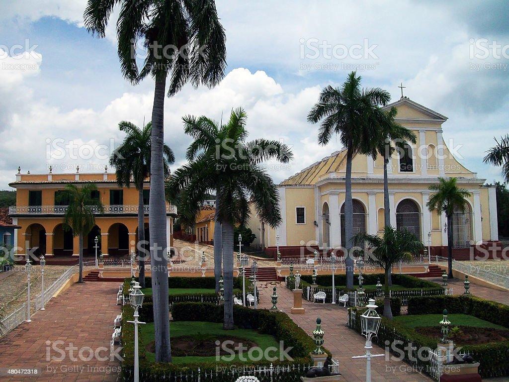 Church Of The Holy Trinity And Brunet Palace.Trinidad Cuba stock photo