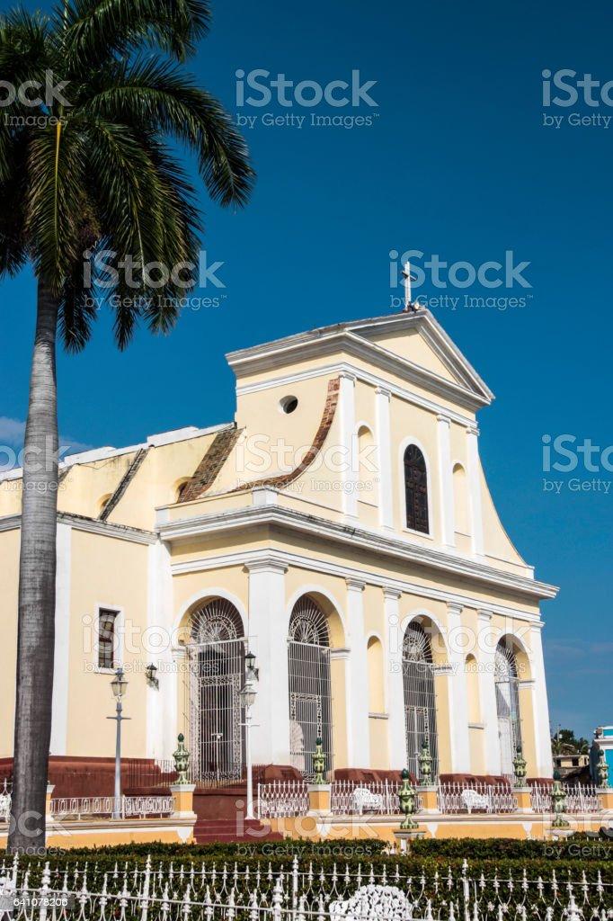 Church of the Holy Trinity in Trinidad, Cuba stock photo