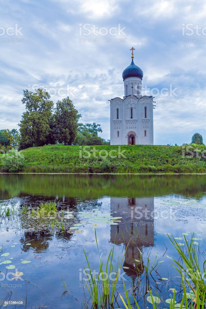 Church of the Intercession on the Nerl (1165) stock photo