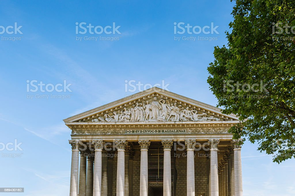 Eglise de la Madeleine in Paris, France stock photo