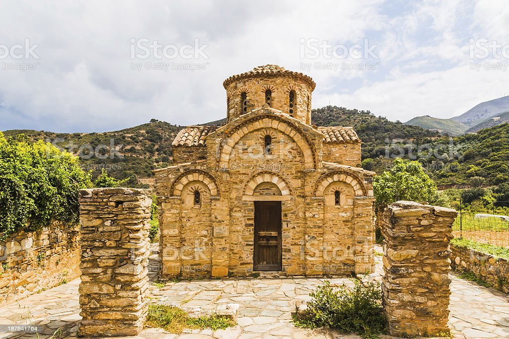 Church of the Panayia in Fodele. Crete royalty-free stock photo