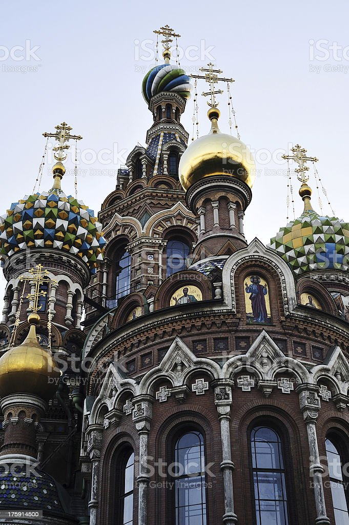 Church of the Ressurection in St.Petersburg, Russia stock photo