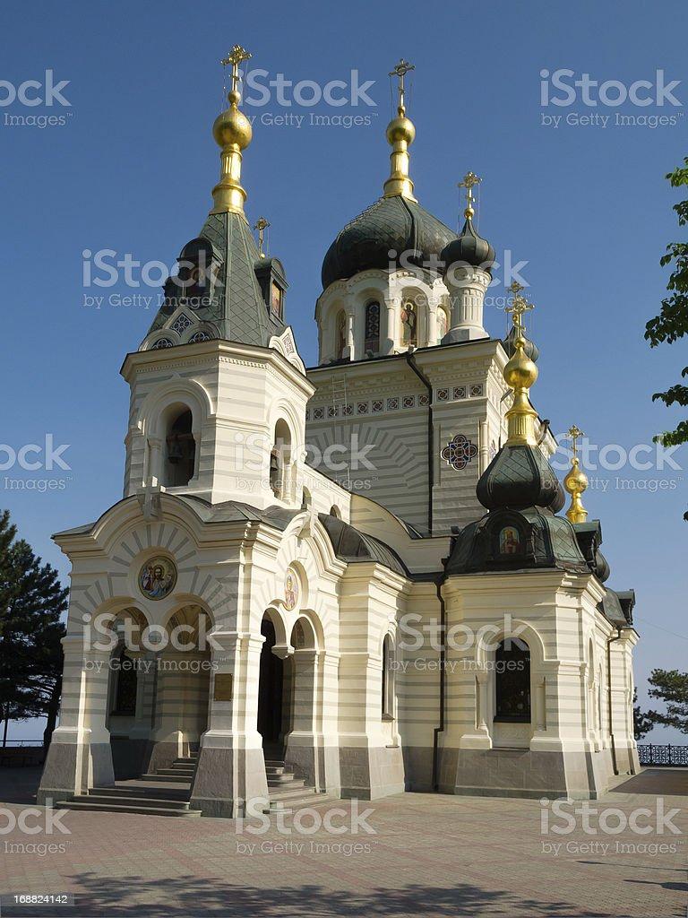 Church of the resurrection. Foros royalty-free stock photo