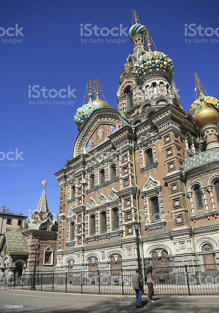 Church of the Resurrection  Jesus Christ at St Petersburg stock photo