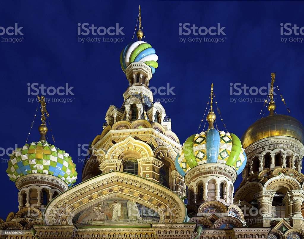 Church of the Resurrection Jesus Christ at St Petersburg, Russia royalty-free stock photo