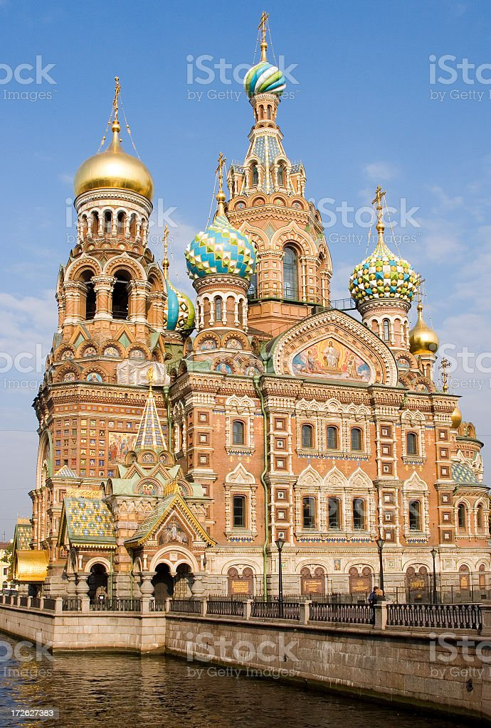 Church of the Resurrection, St Petersburg, Russia stock photo