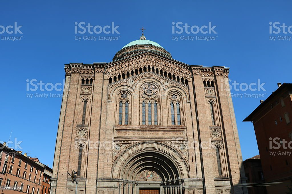 Church of the Sacred Heart of Jesus in Bologna, Italy stock photo