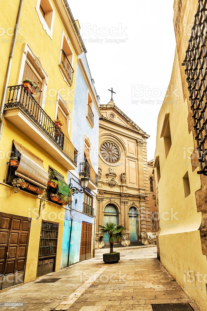 Church of the Sacred Heart of Jesus, Valencia. Spain stock photo