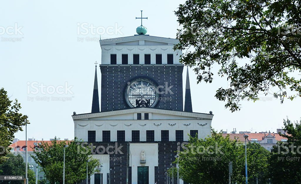 Church of the Sacred Heart, Prague stock photo
