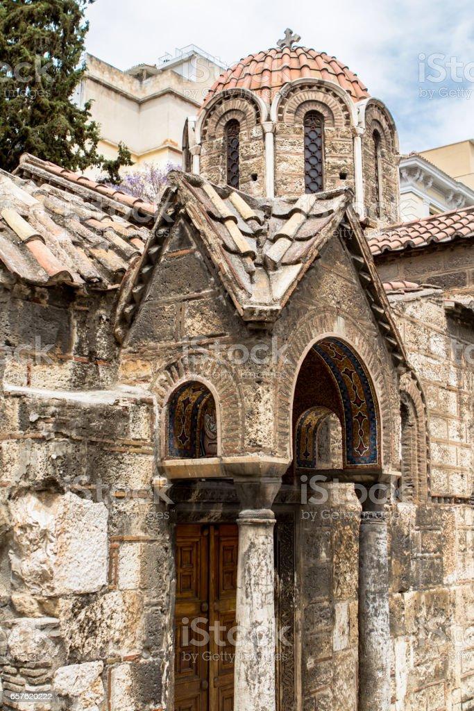 Church of the Saints Apostles in Athens, Greece stock photo