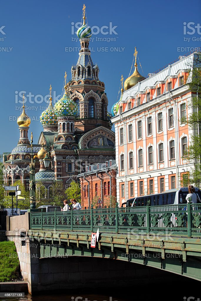 Church of the Savior on Spilled Blood in Saint-Petersburg royalty-free stock photo