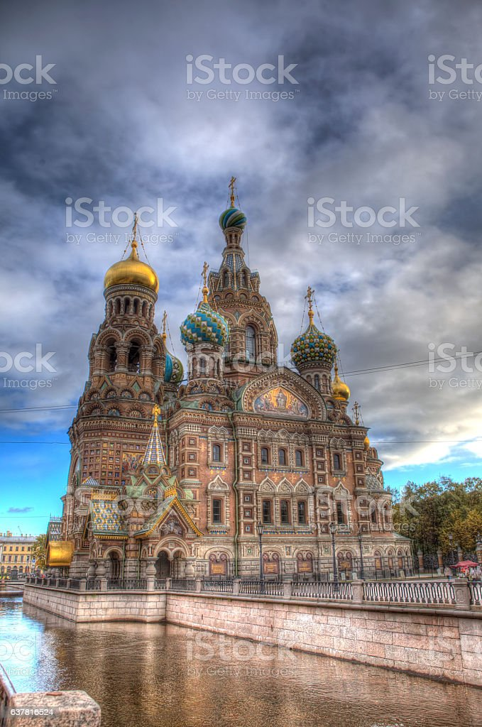 Church of the Savior on Spilled Blood in Sankt Petersburg stock photo