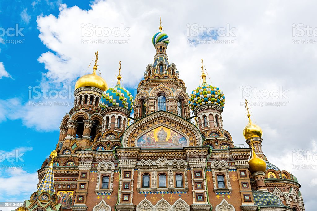 Church of the Savior on Spilled Blood, St Petersburg stock photo