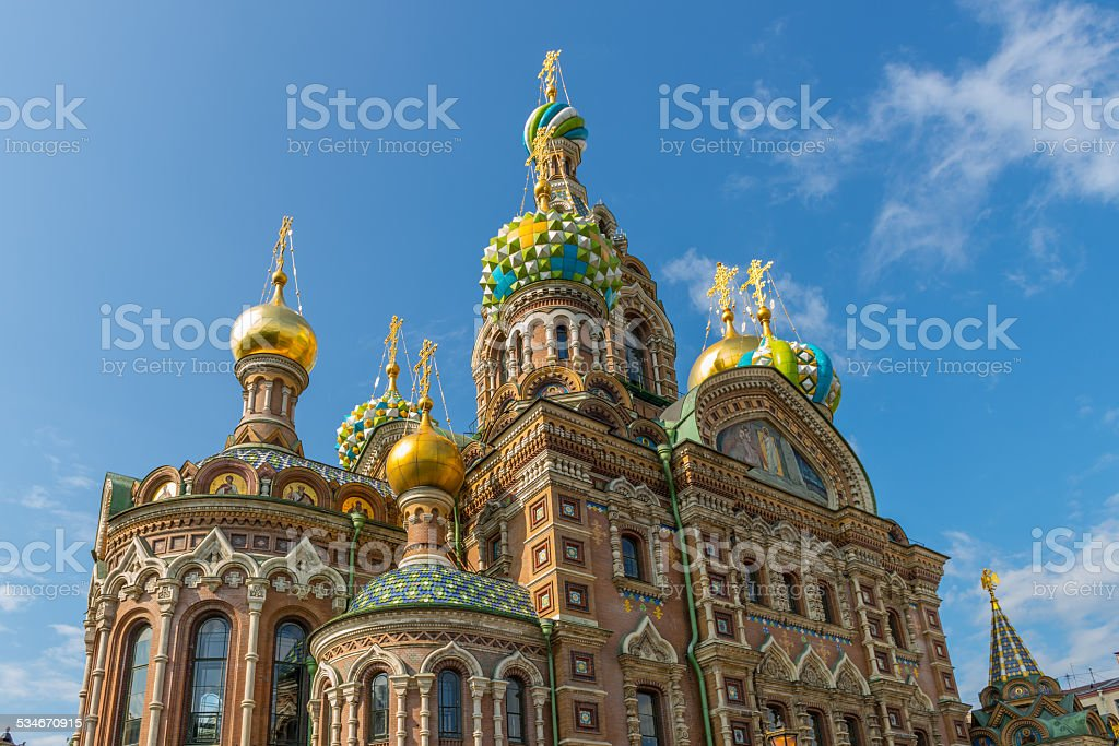 Church of the Savior on Spilled Blood - St. Petersburg stock photo