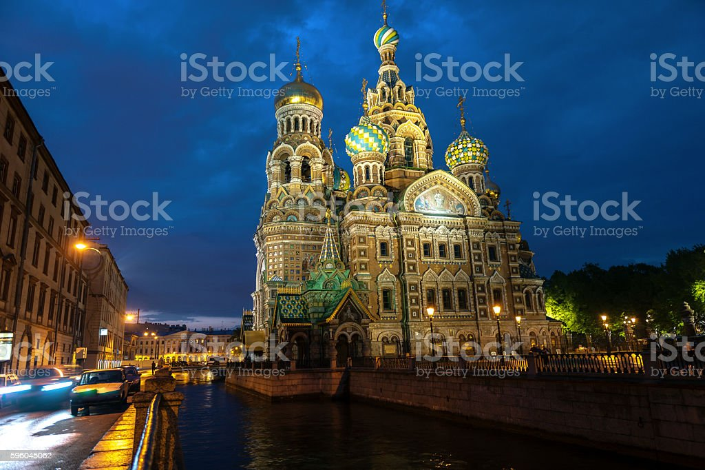 Church of the Savior on Spilled Blood, St Petersburg, Russia. stock photo