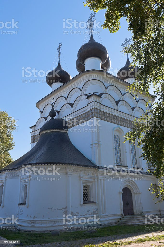 Church of the Saviour Merciful in the city of Belozersk stock photo