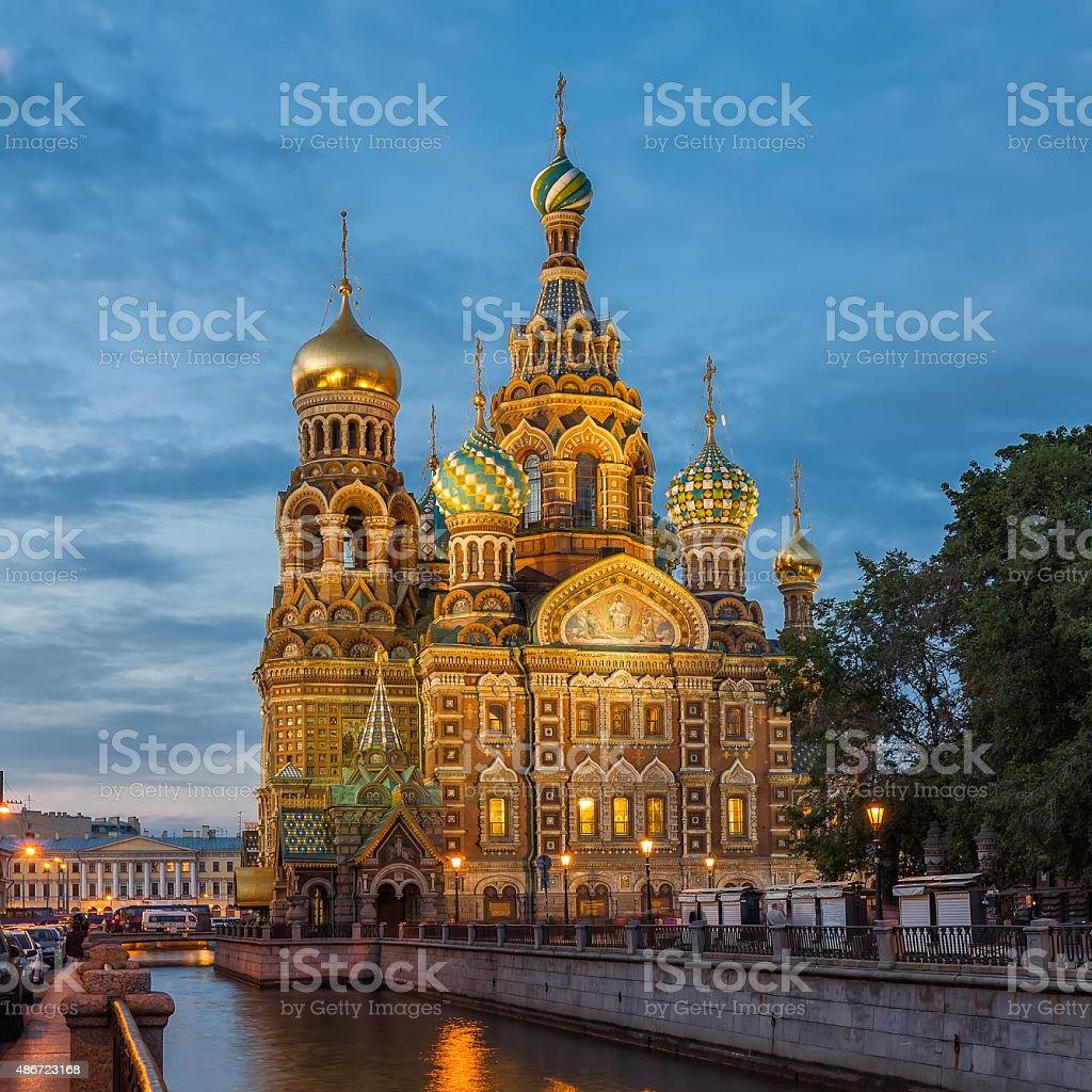Church of the Saviour on Spilled Blood, Saint Petersburg stock photo