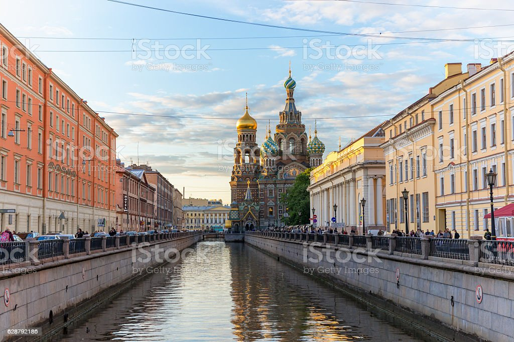 Church of the Saviour on Spilled Blood, St. Petersburg, stock photo