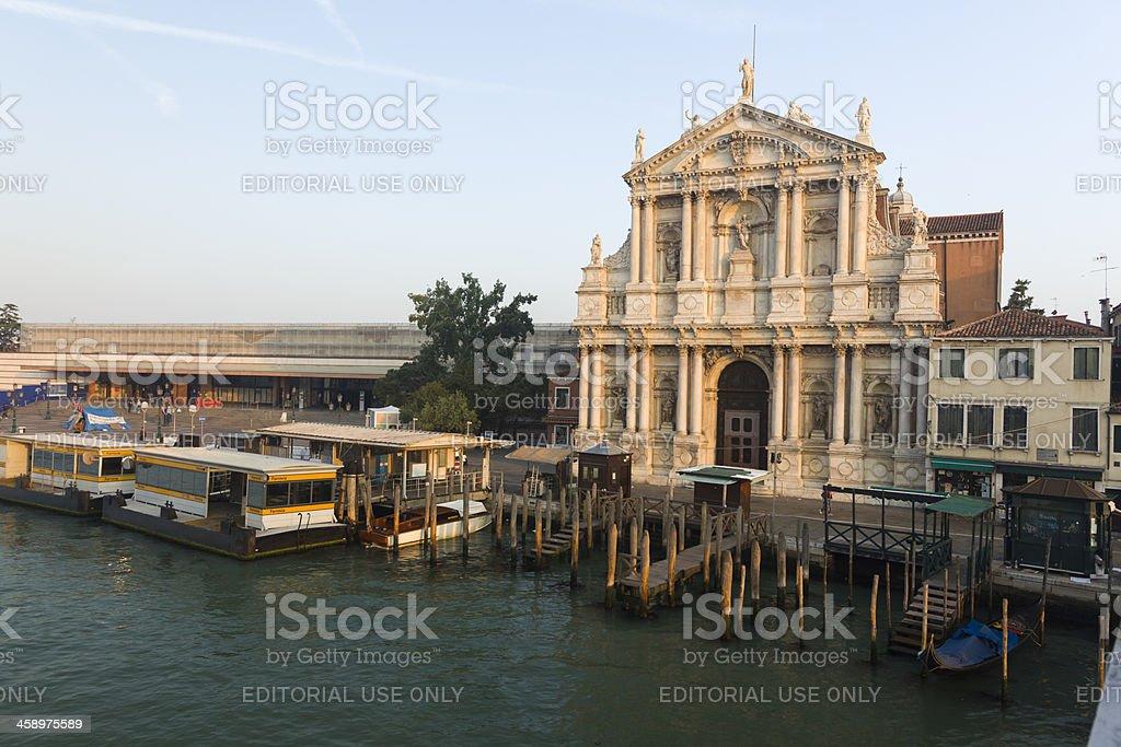 Church of the Scalzi, Venice, Italy stock photo