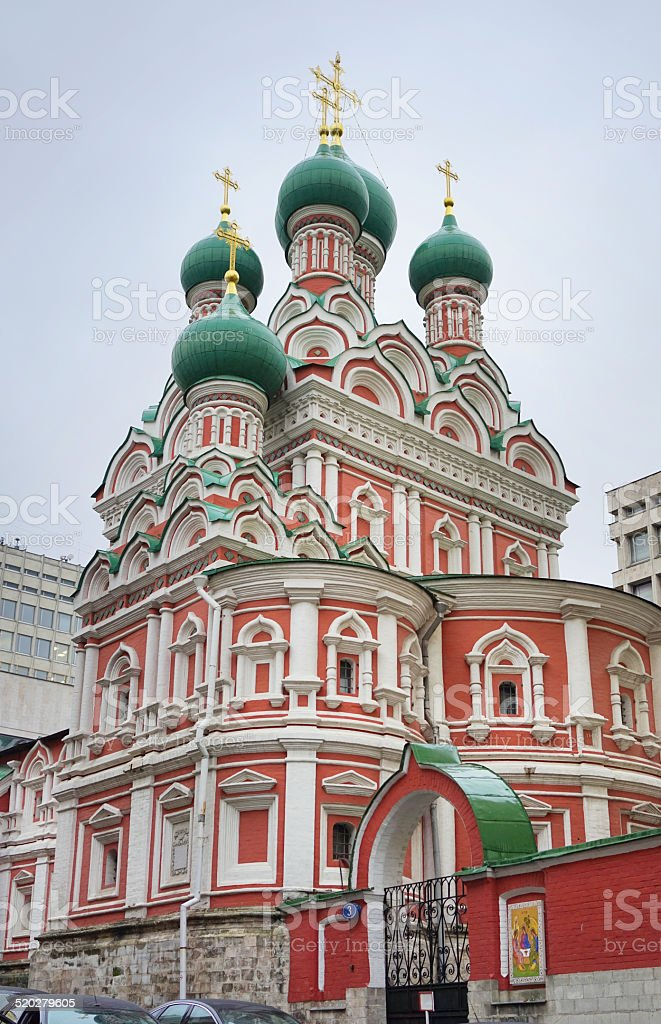 Church of the St. Trinity in Nikitinov, Moscow, Russia stock photo