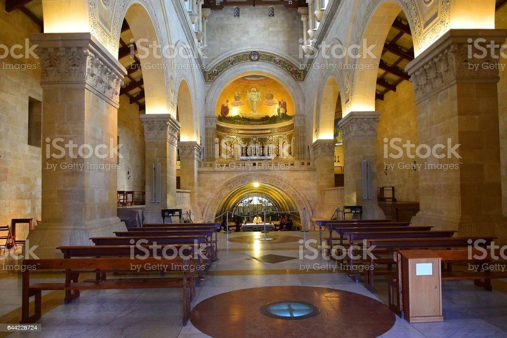 Church of the Transfiguration, Mount Tabor, Galilee, Israel stock photo