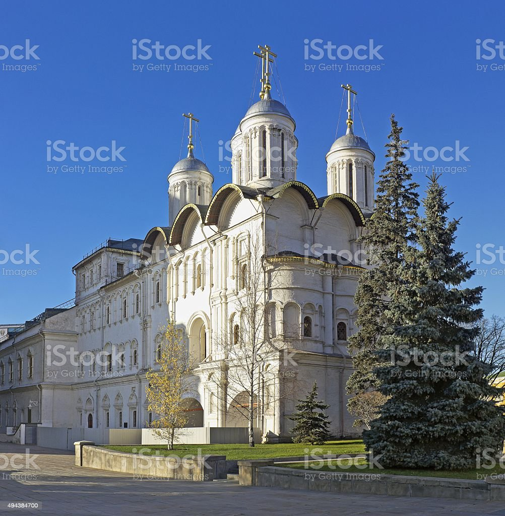 Church of the Twelve Apostles in Moscow Kremlin, Russia stock photo