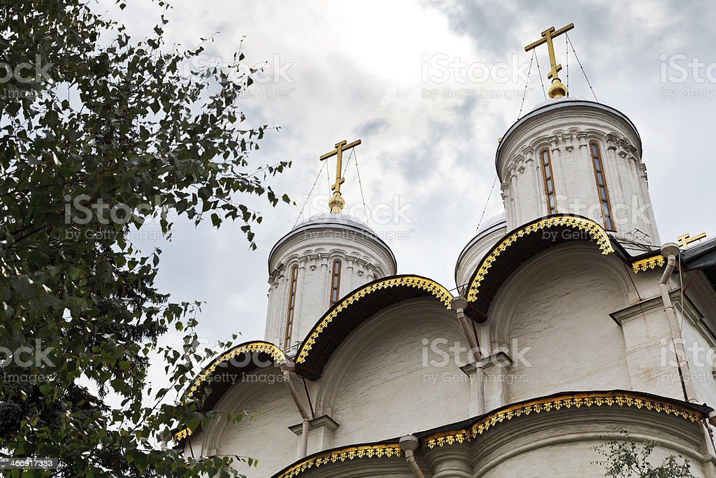 Church of the Twelve Apostles in Moscow stock photo
