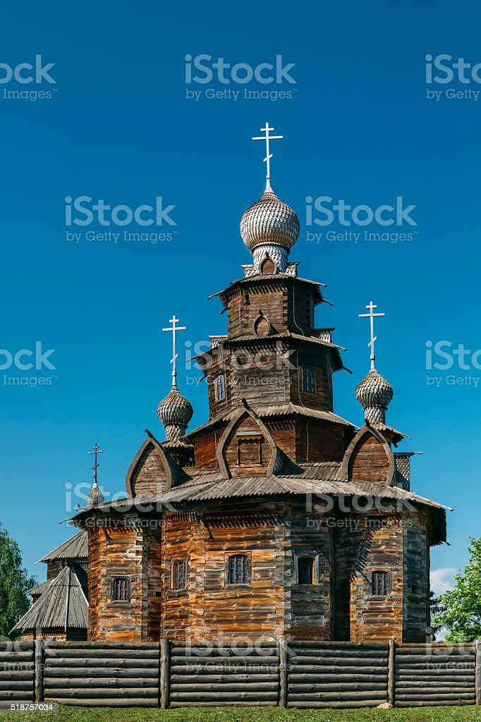 Church of Transfiguration in Suzdal, Russia stock photo
