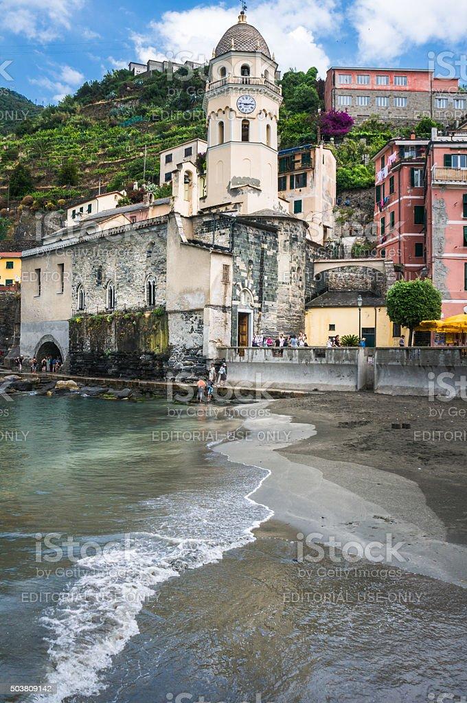 Church of Vernazza stock photo
