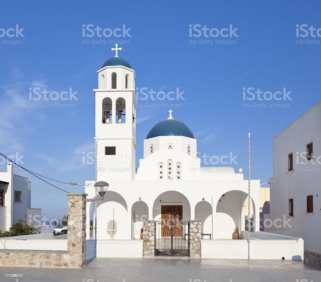 'Church Of Vourvoulos, Santorini' stock photo