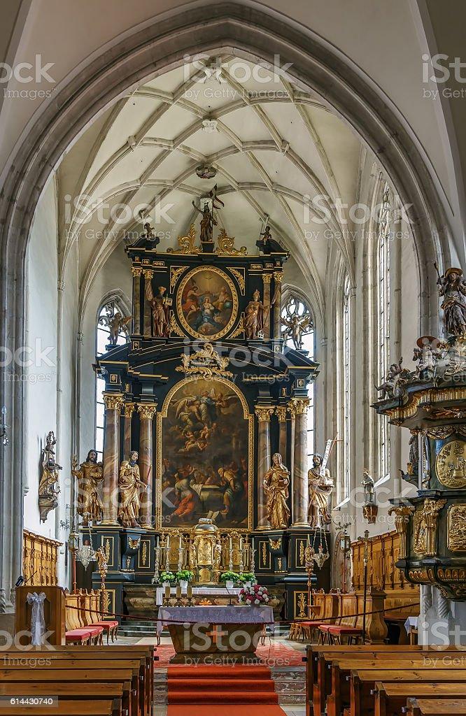 Church of Weissenkirchen, Austria stock photo