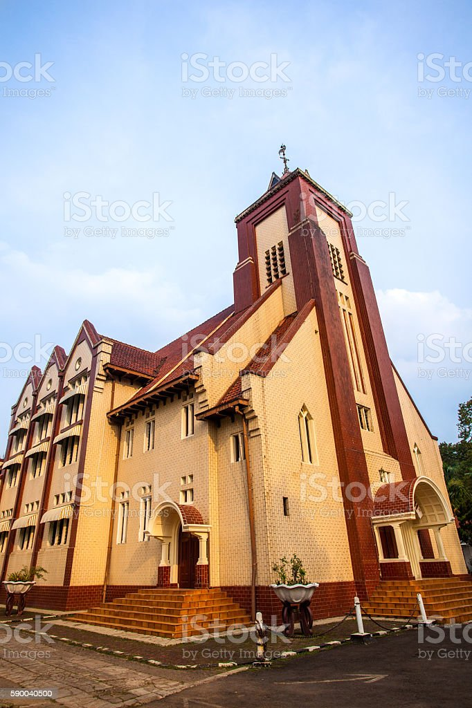 Church of Zebaoth in Bogor, Indonesia stock photo