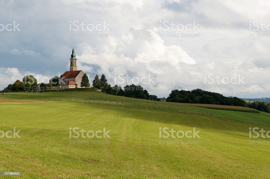 Church on a Hill royalty-free stock photo