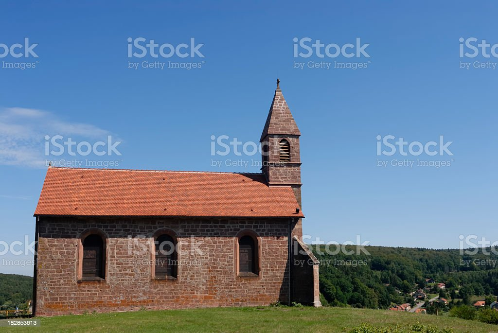 Church on a hill stock photo