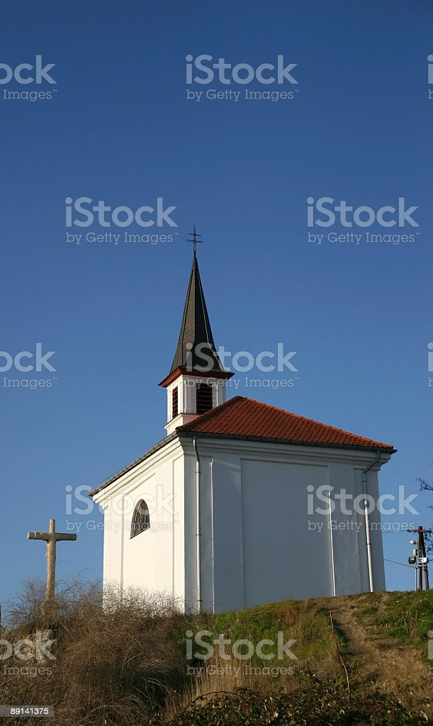 Church on a hill. royalty-free stock photo