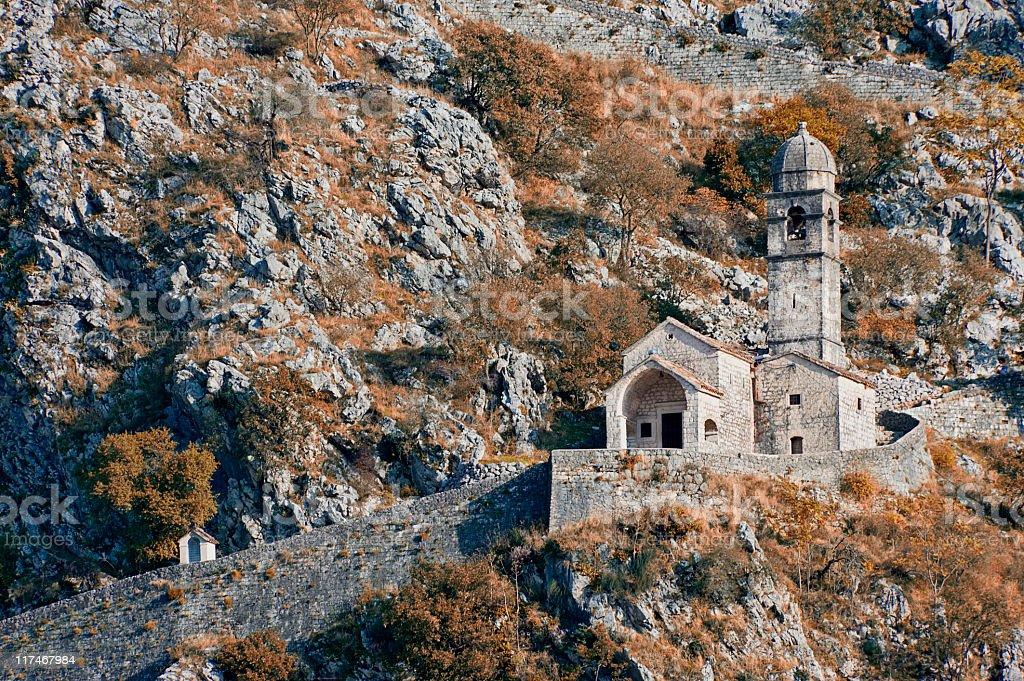 Church on a Mountain stock photo