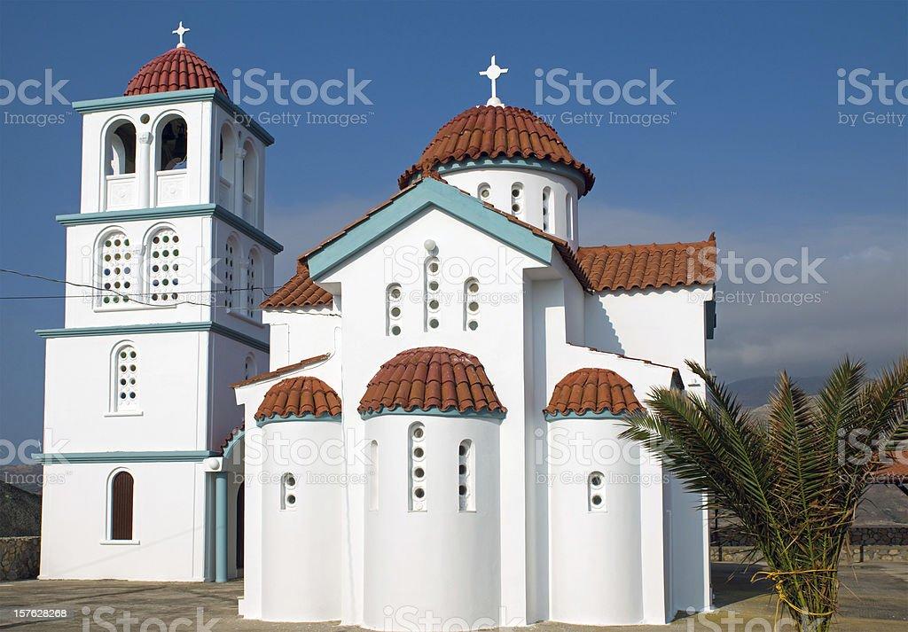 Church on Crete island royalty-free stock photo