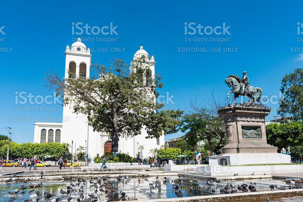 Church on la Ruta de las Flores stock photo