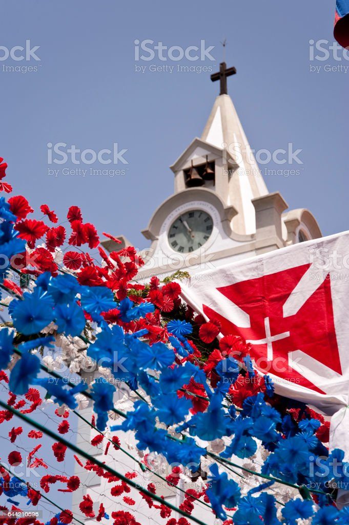 Church on Madeira stock photo