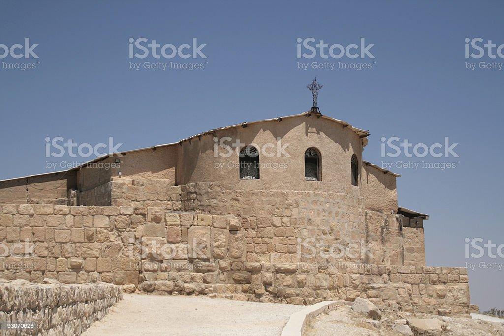 Church on mount nebo, Jordan royalty-free stock photo
