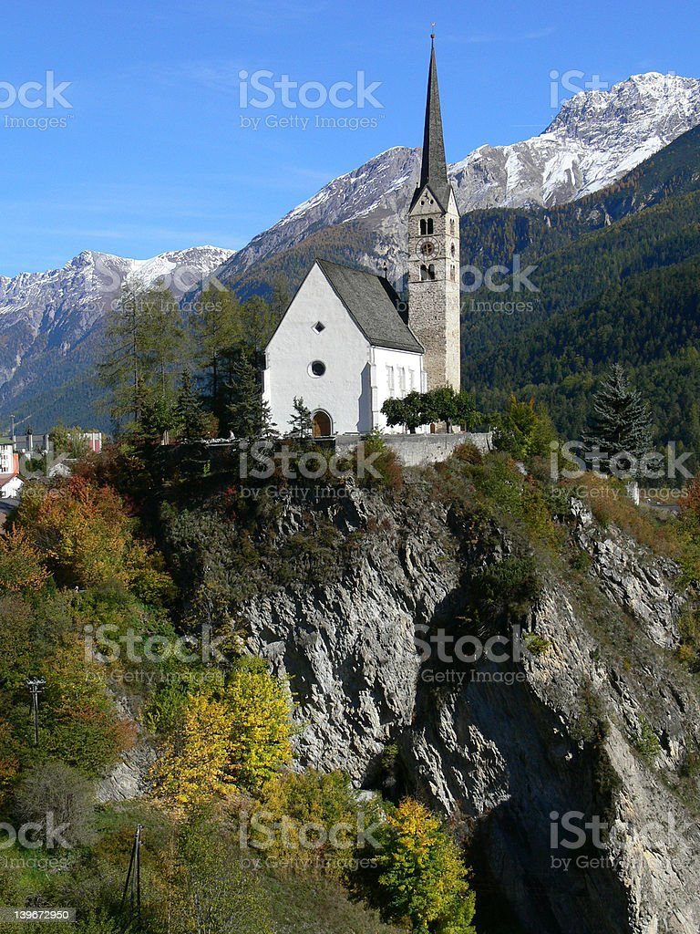 church on mountaintop royalty-free stock photo