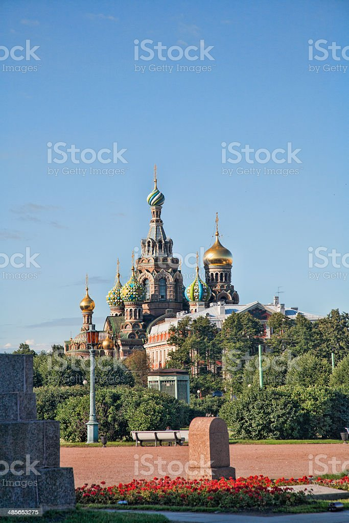 Church on Spilled Blood in St. Petersburg Russia stock photo