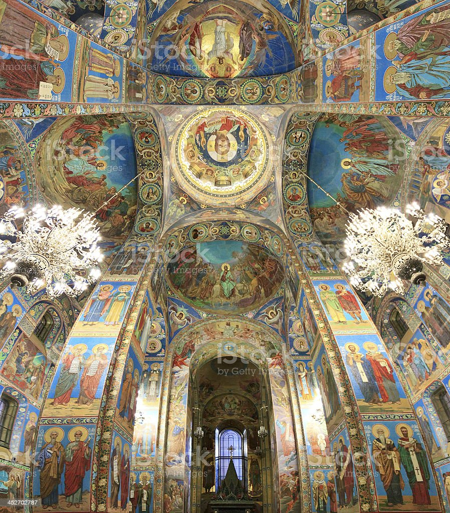Church on Spilled Blood royalty-free stock photo