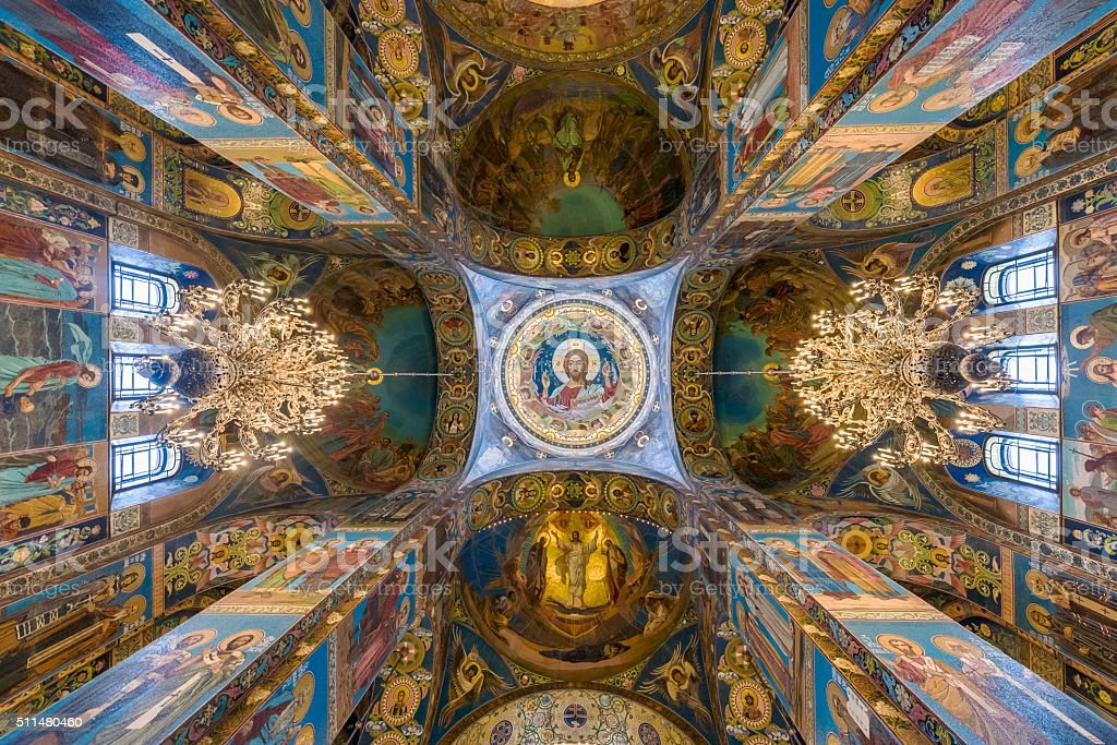 Church on Spilled Blood/Храм Воскресения Христова на Крови stock photo