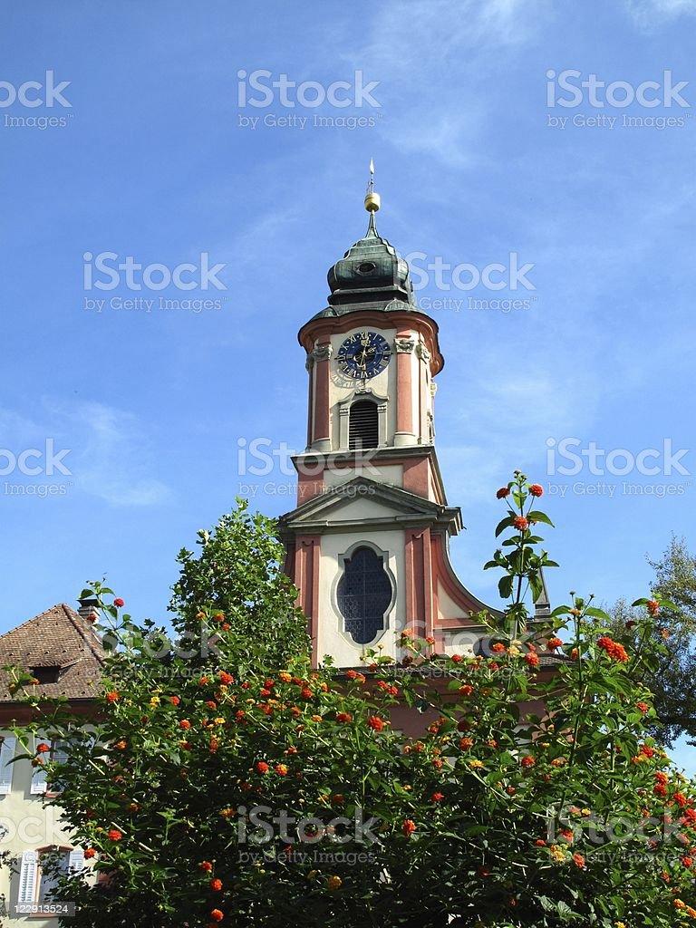 Church on the island of Mainau stock photo