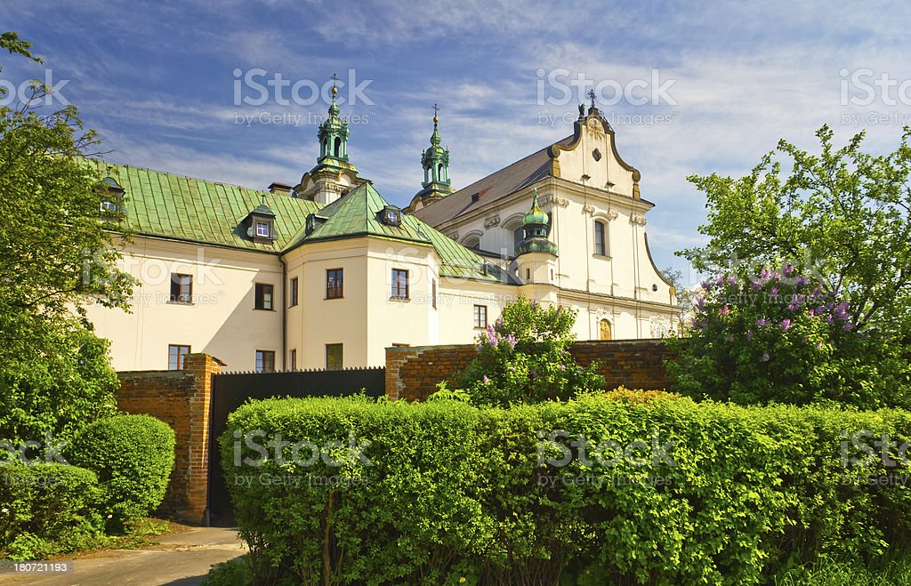 Church on the Rock in Cracow, Poland royalty-free stock photo