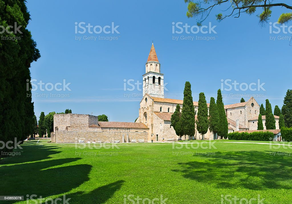 Church or Cathedral of Aquileia stock photo